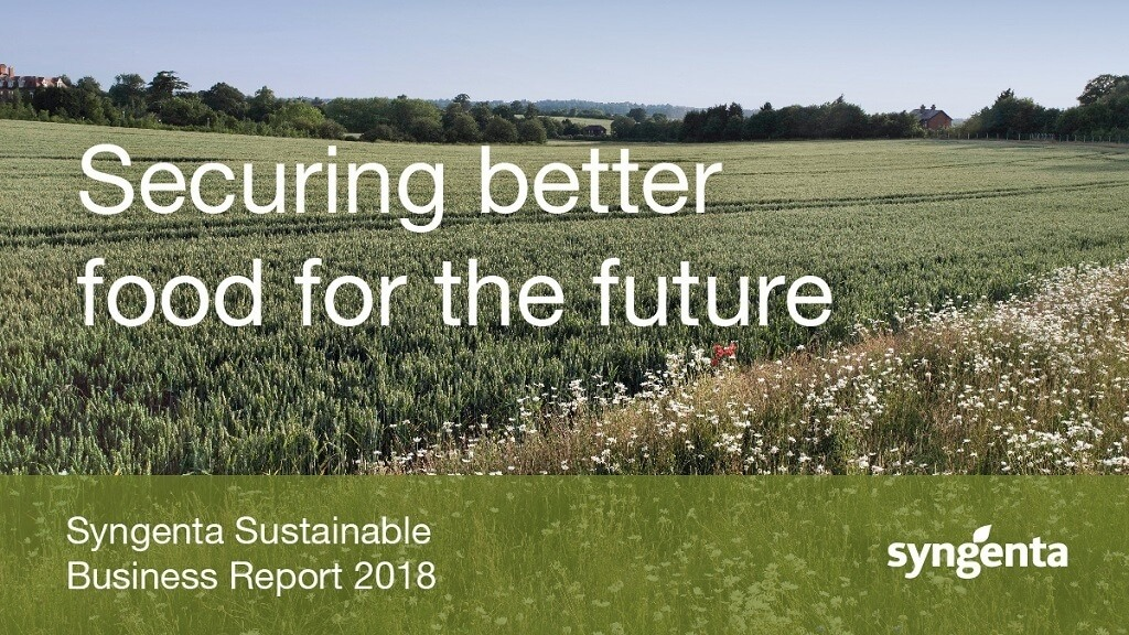 Syngenta Sustainability Report 2018